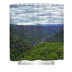 New River Bridge Shower Curtain