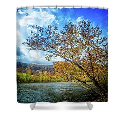 New River In Fall Shower Curtain