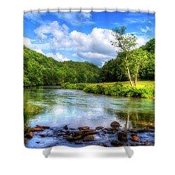 New River Summer Shower Curtain