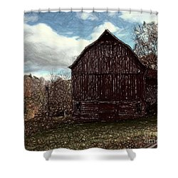 New Road Barn Shower Curtain