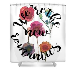 New Romantics Shower Curtain by Patricia Abreu