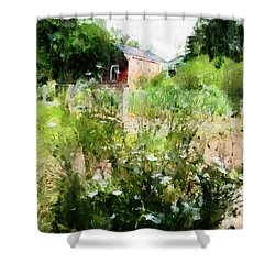 New Roots Shower Curtain by Claire Bull