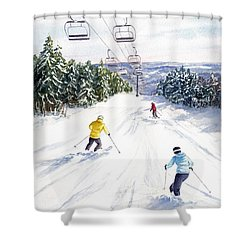 New Snow Shower Curtain by Vikki Bouffard