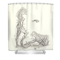 New Spring Shower Curtain by Mark Johnson