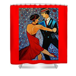 New Two To Tango Shower Curtain by Nora Shepley