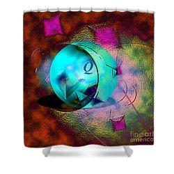 Q-ball Shower Curtain