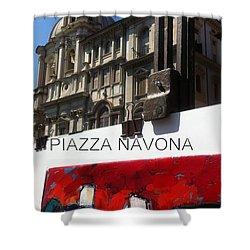 new work Piazza Navona Shower Curtain