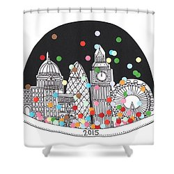 New Year Shower Curtain by Isobel Barber