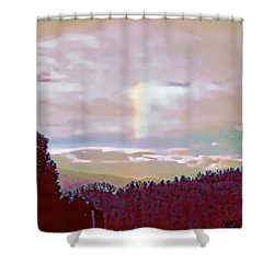 New Year's Dawning Fire Rainbow Shower Curtain
