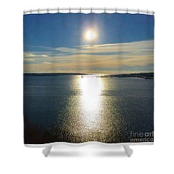 New Year's Day 2016, Casco Bay, Portland, Maine  Shower Curtain