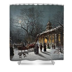 New Years Eve, C1876 Shower Curtain by Granger