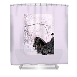 New Year's Resolution Shower Curtain by Angela Davies
