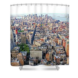 New York Aerial View Shower Curtain