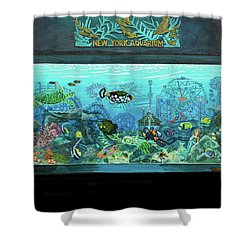 New York Aquarium Shower Curtain by Bonnie Siracusa