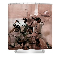 New York Baseball  Shower Curtain