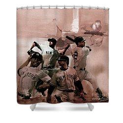 New York Baseball  Shower Curtain