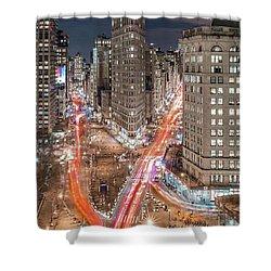 New York Big City Rush Hour Shower Curtain