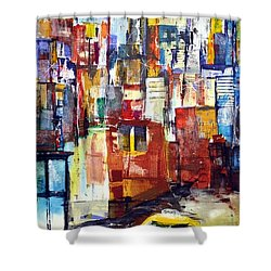 New York Cab Shower Curtain