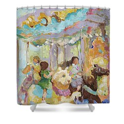 New York Carousel Shower Curtain