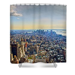 New York City - Manhattan Shower Curtain by Mark Dodd