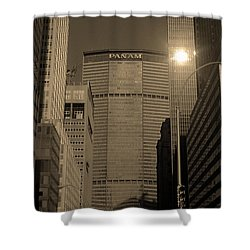 New York City 1982 Sepia Series - #7 Shower Curtain