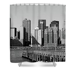 Shower Curtain featuring the photograph New York City-7 by Nina Bradica