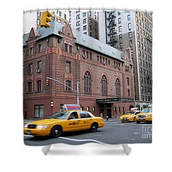 New York City Yellow Cab  - Amsterdam -  West Seventy Sixth Shower Curtain