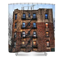 New York City Apartments Shower Curtain by Randy Aveille