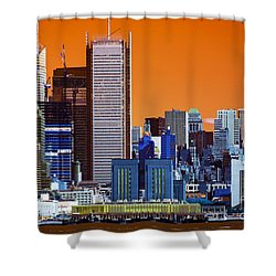New York City Colors Pop Art Shower Curtain by John Rizzuto