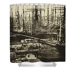 New York City Docks - 1800s Shower Curtain