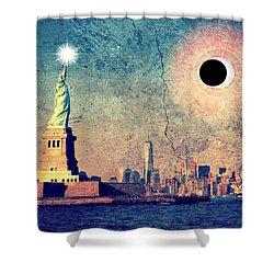 New York City Solar Eclipse 2017  Shower Curtain