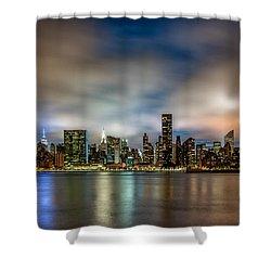 New York City Evening Skyline  Shower Curtain
