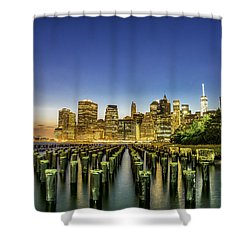 New York City From Brooklyn Shower Curtain