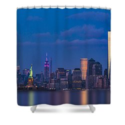 Shower Curtain featuring the photograph New York City Icons by Susan Candelario