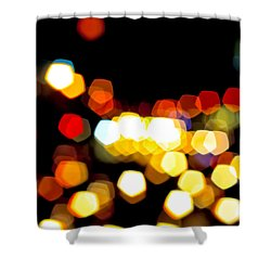 New York City Lights - My View Shower Curtain by Mark E Tisdale