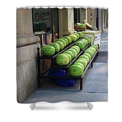 New York City Market Shower Curtain by Frank Romeo