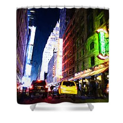 New York City Shower Curtain by Matthew Ashton