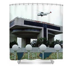 New York City Port Authority Helicopter Pad, New York World's Fa Shower Curtain