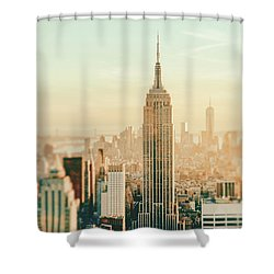 New York City - Skyline Dream Shower Curtain by Vivienne Gucwa