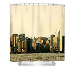 New York City Skyline Panorama Shower Curtain by Vivienne Gucwa