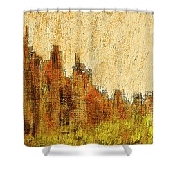 New York City In The Fall Shower Curtain by Alex Galkin
