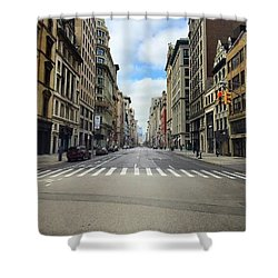New York Edge Of City Shower Curtain