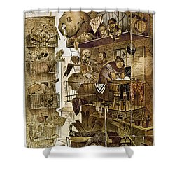 New York: Fire Escapes Shower Curtain by Granger