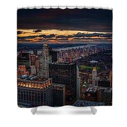 New York Gold Shower Curtain