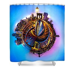 New York Heartbeat Shower Curtain by Az Jackson