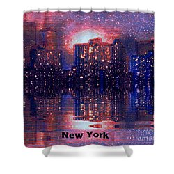 New York Shower Curtain by Holly Martinson