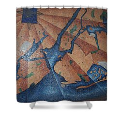 New York In Mosaic Shower Curtain by Rob Hans