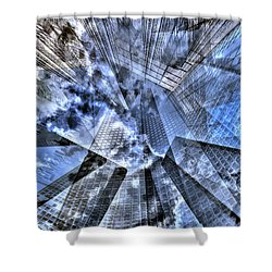 New York Iris Collage Shower Curtain
