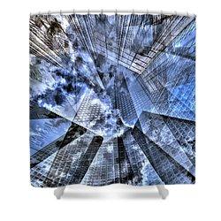 New York Iris Collage Shower Curtain