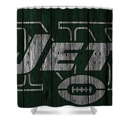 New York Jets Wood Fence Shower Curtain